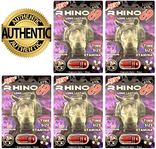 Beast Mode Rhino 69 69K Best Male Enhancing Pills All Natural Performance (5 (Natural Rhino)