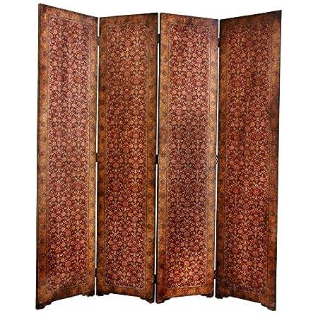 oriental furniture distinctive four panel screen 6 feet tall