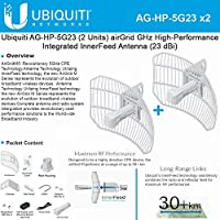 Antenna AG-HP-5G23 AirGrid M5 HP 5 GHz High-Performance Integrated antenna 100Mbps (2PACK)