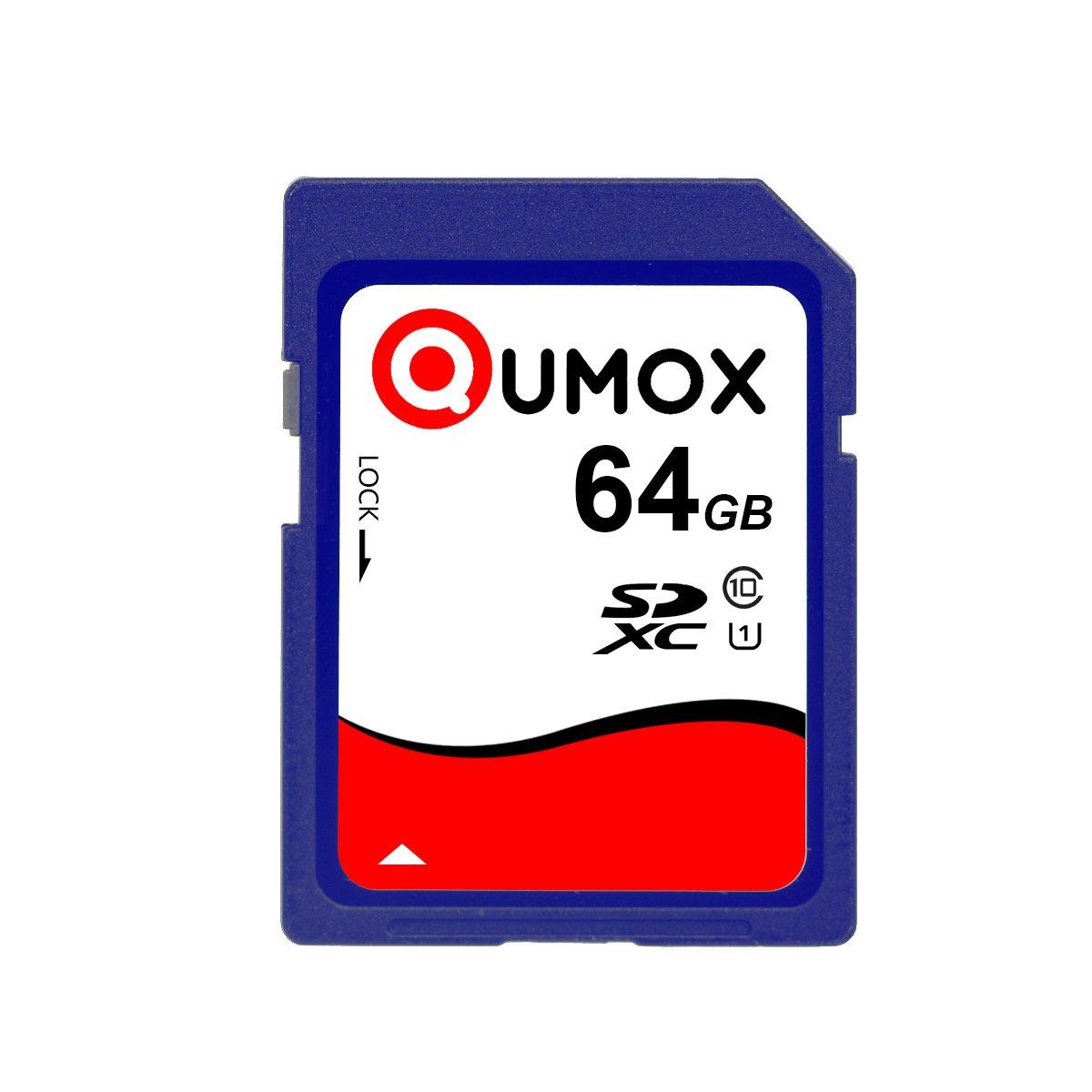 QUMOX 64GB 40MB / s SDXC 64GB classe 10 UHS-I Scheda di memoria digitale sicura QX-SDXC-C10-64G-WR-Bulk