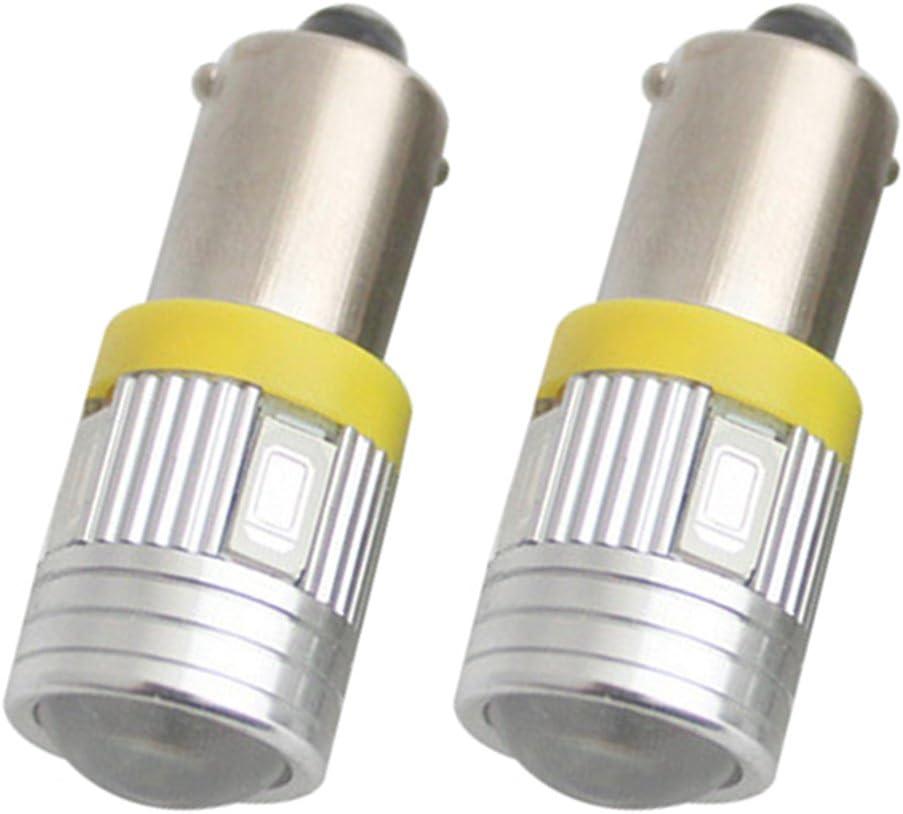 TABEN 180LM Super Bright 5730 6-EX Chipsets Lens BA9 BA9S 53 57 1895 64111 LED Bulbs Used For Side Door Courtesy Lights Map Lights 8000K Blue Pack of 2