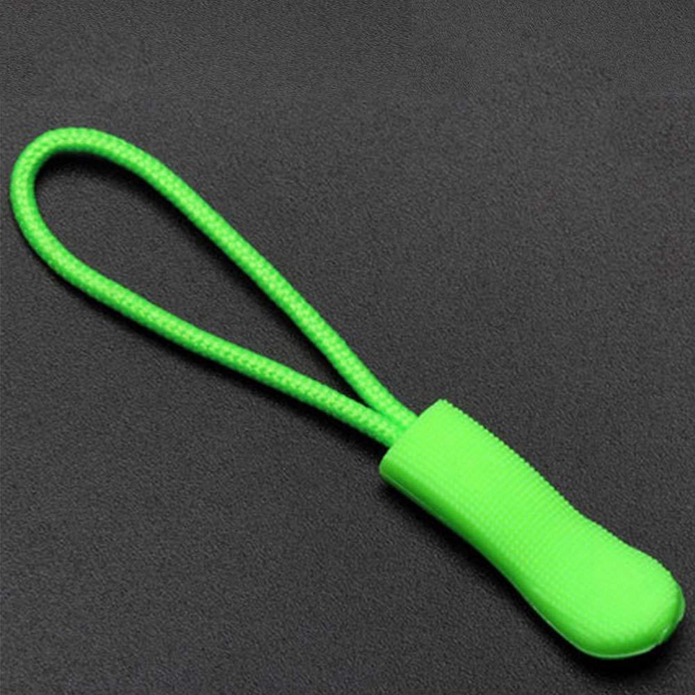 tiendas de campa/ña viajes color azul 10 o 20 piezas de cord/ón de nailon resistente con cierre de cremallera//fijador de cremallera con agarre antideslizante para mochilas Tiradores de cremallera