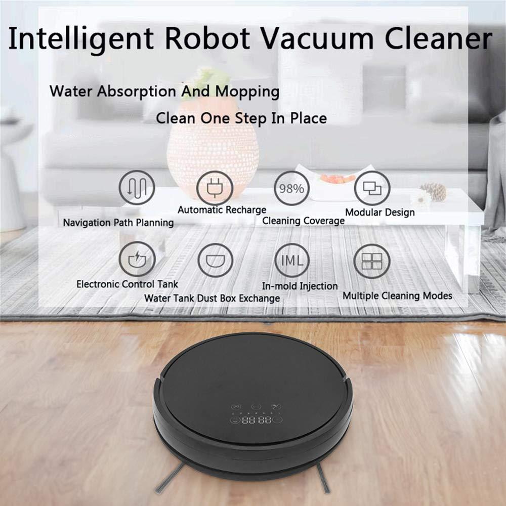 ZZAZXB Robot Aspirador con Poder De Succión MÁX, Control Mediante Smartphone App Programable,4 Modos De Limpieza, Adecuado para Suelos Duros Y Alfombras: ...