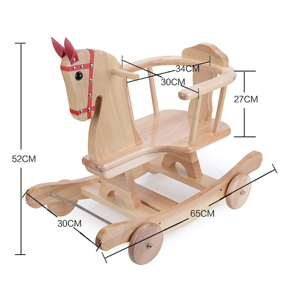 Amazon.com: Rocking chair Rocking Horse Childrens Wooden Horse Toy Baby Solid Wood Baby Gift Carriage 653052cm FANJIANI: Home & Kitchen