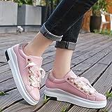 Malbaba las Mujeres de Malla Deportiva transpirable Zapatillas de Deporte Casuales con Cordones de correr Confort deportes Zapatos Tenis de Moda Pink