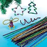Decorazioni natalizie con scovolini (confezione da 72)