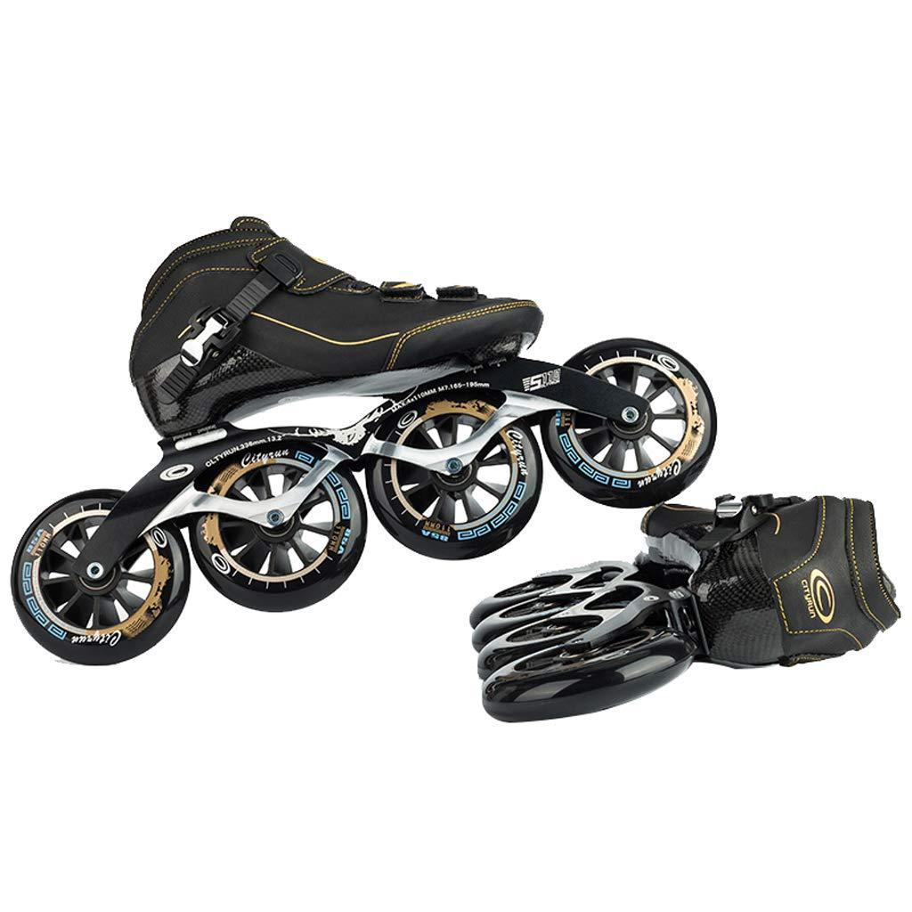 LIUXUEPING ローラースケート、 スケート、 プロのスピードスケートシューズセット、 レーシングシューズ、 子供のプロのローラースケート (色 : 青, サイズ さいず : 37) B07GJG6VRV 43|黒 黒 43