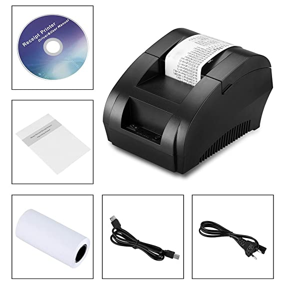 Excelvan - Impresora Térmica de Punto Recibo y Factura (58mm, USB ...