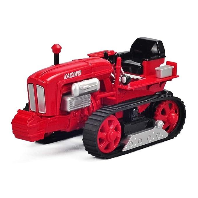 Yingjianjun Tractor de orugas Tractor agrícola, Modelo de camión de maquinaria agrícola, Tractor camión de Juguete, Coche de Juguete de niño de niños (Color ...