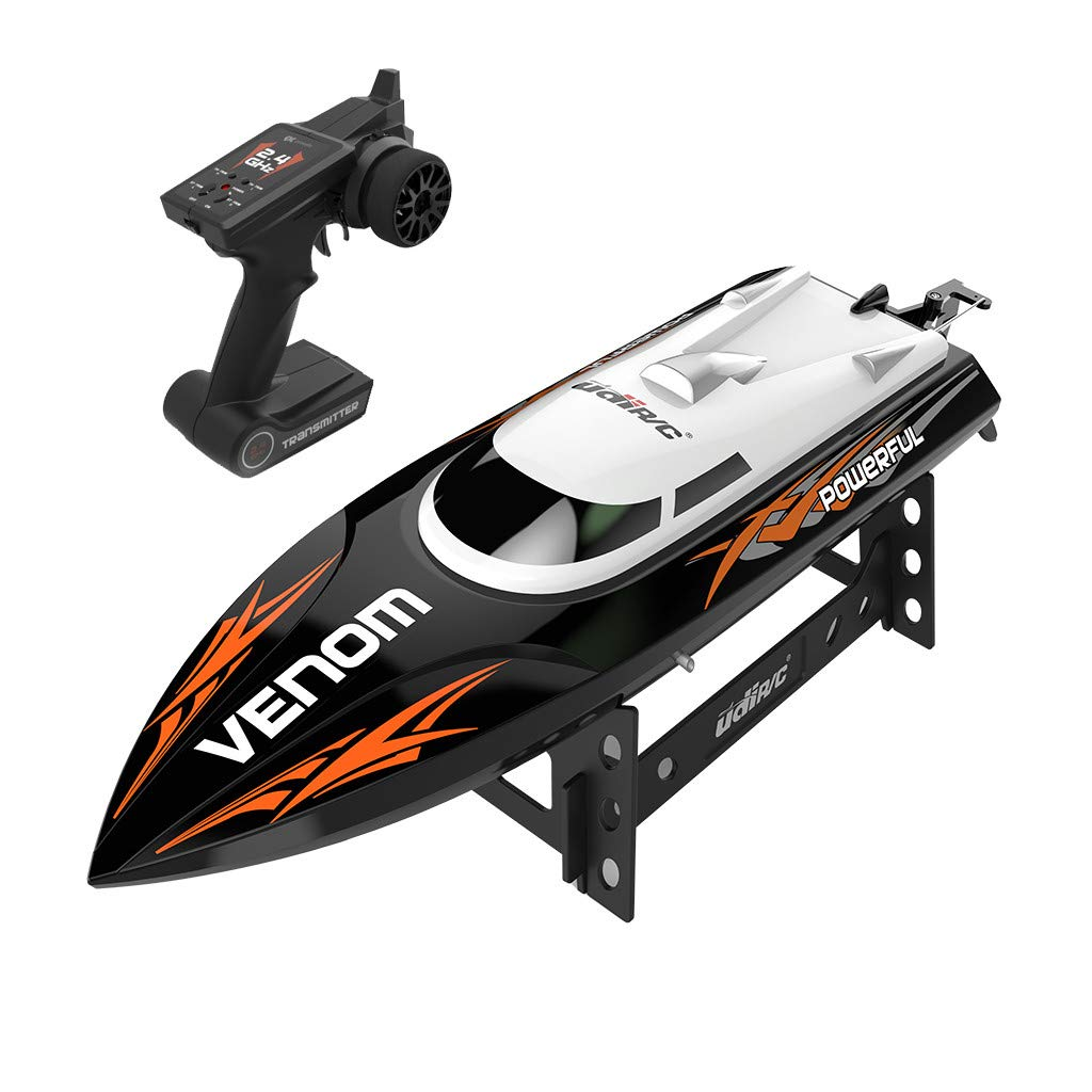 ✈Shipping from The United States✈RC Boat RC Boats for Adults RC Racing Boat High Speed Radio Electronic Remote Control Boat For Kids Black Pools and Lakes Boat Pool Alarm Toy Boat Drone (Black) by DICPOLIA (Image #7)