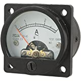 uxcell® AC 0-3A Round Analog Panel Meter Current Measuring Ammeter Gauge Black