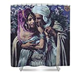 Pixels Shower Curtain (74'' x 71'') ''Slave To Love''