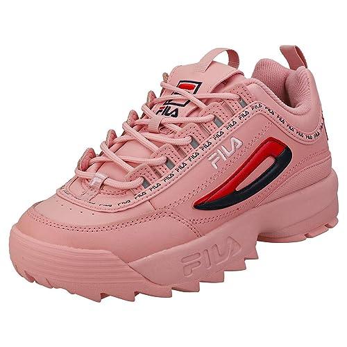 b8ecd6928 Fila DISRUPTOR II PREMIUM REPEAT Mujeres Zapatillas Pink - 9 UK: Amazon.es:  Zapatos y complementos