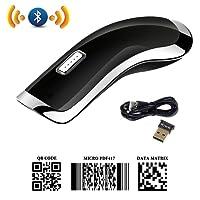 Sumeber 2d Barcode Scanner portatif sans fil Bluetooth Mini scanner Bracode Micro Pdf417/QR/Data Matrix Brcode lecteur support iPhone/Android/Windows/Mac noir