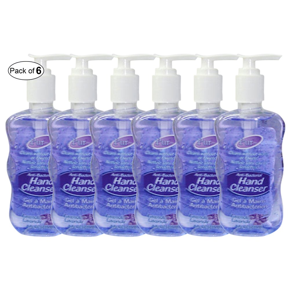 Purest Anti-Bacterial Hand Cleanser With Lavender (237ml) (Pack of 6)