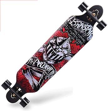 GJF Road Skate Skateboard de Cuatro Ruedas Habilidades para la Calle ...