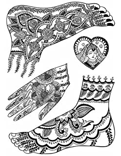 Mehndi Art Of Henna Body Painting Carine Fabius Amazon Co Uk