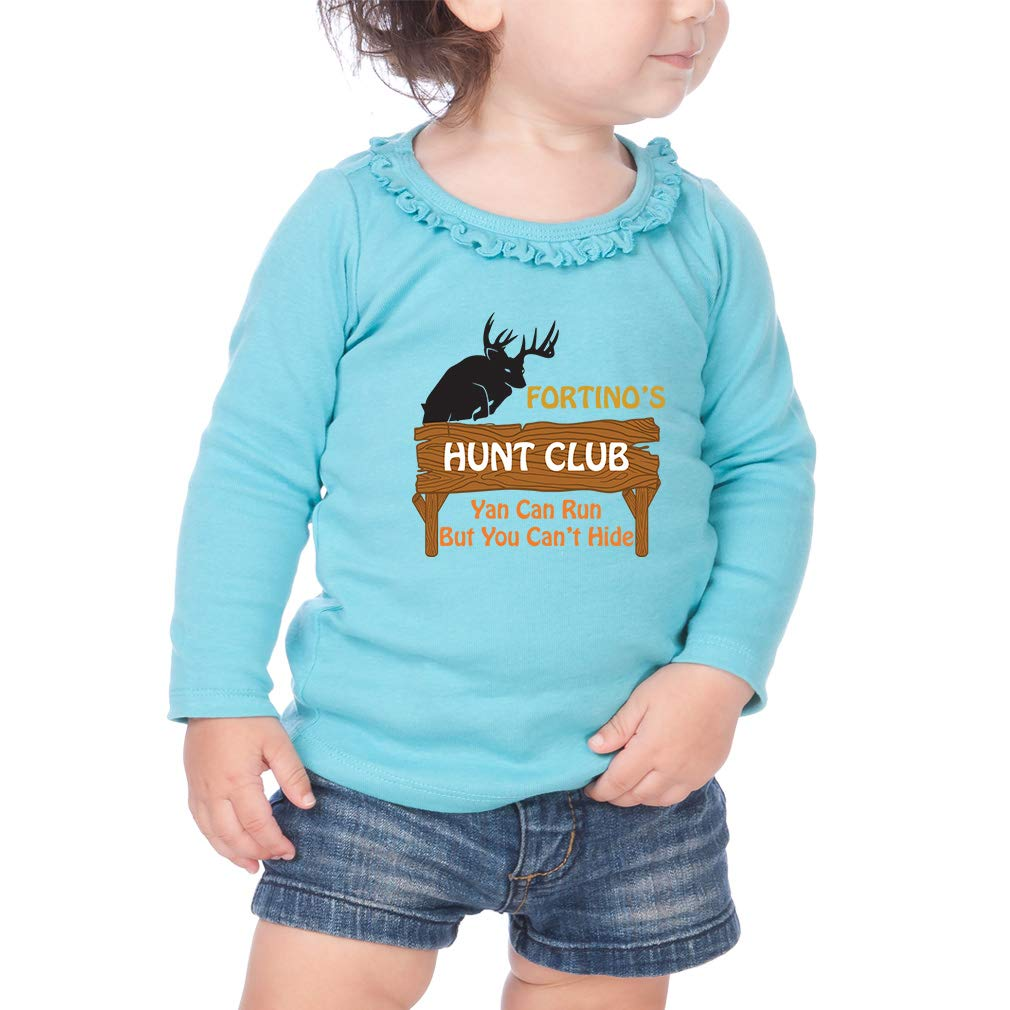 Personalized Club Wood Sign Cotton Girl Toddler Long Sleeve Ruffle Shirt Top
