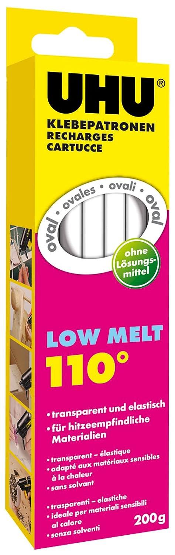 12 kg UHU 48619 Klebepatronen Niedrigtemperatur Low Melt oval