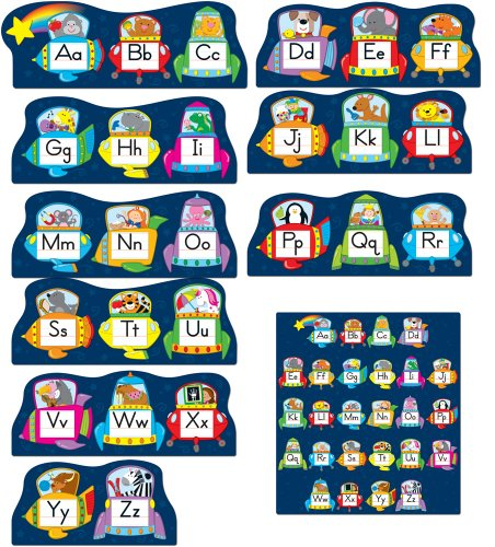 Carson Dellosa Alphabet Spaceships Bulletin Board Set (110156)