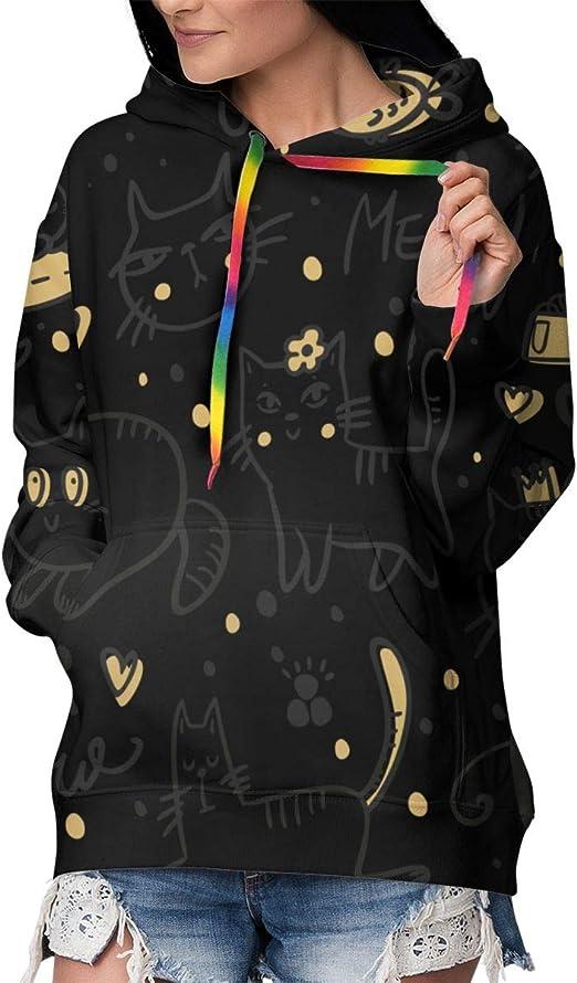 Fashion 0 Neck Long Sleeves Pullover Drawstring Hoodie with Kangaroo Pocket Spring Top Sweat Shirt for Girls