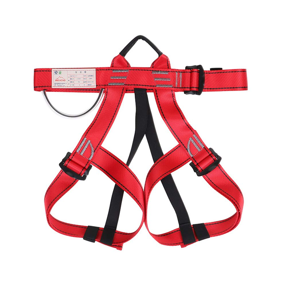 Climbing Safety Belt fire Rescue high Altitude School Operation Rock Climbing Rock Climbing Rappelling Equipment Body Protector Protection-red