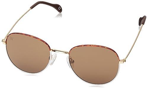 Wolfnoir, AKELA BICOME BROWN - Gafas De Sol unisex color blanco/marrón, talla única