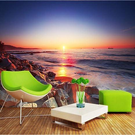 Amazon Com Pbldb Beautiful Sunset Beach Romantic Landscape