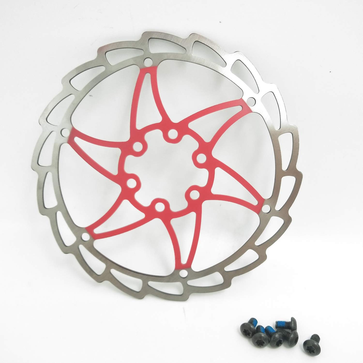 CDHPOWER 160mm Disc Brake Rotor with 6 Bolts Stainless Steel Bicycle Rotors Fit for Road Bike Mountain Bike MTB Stainless Steel, 1pc BMX