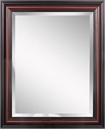Head West Traditional Cherry Wall Mirror, 28-Inch by 34-Inch