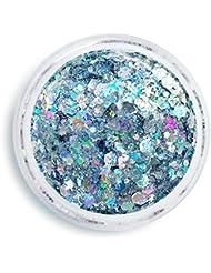 Uniglitter - Glitter Gel Holographic Silver - Festival Glitter - Glitter Makeup - Chunky Cosmetic Glitter | Dance - Eyes, Lips, Face | Face Paint Glitter