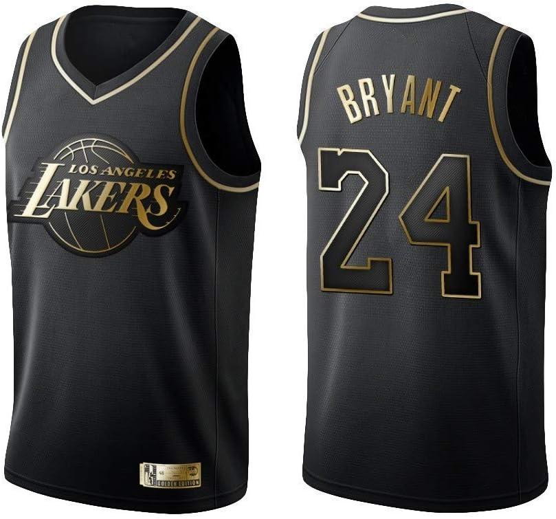 NBA Bordado Swingman Transpirable y Resistente al Desgaste Camiseta para Fan Ceonam Camiseta de Baloncesto para Hombre Los Angeles Lakers #8#24 Kobe Bryant