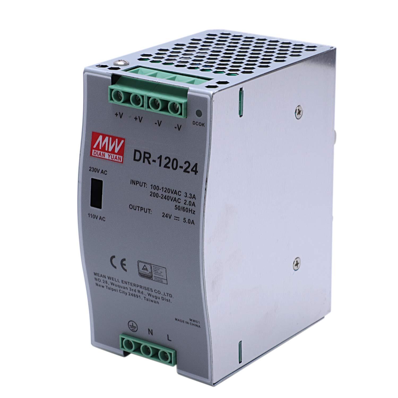 WOVELOT DR-120-24 Alimentatore da 120W per Uso Industriale Su Binario 24V5A Alimentatore per Commutazione Su Binario di Montaggio