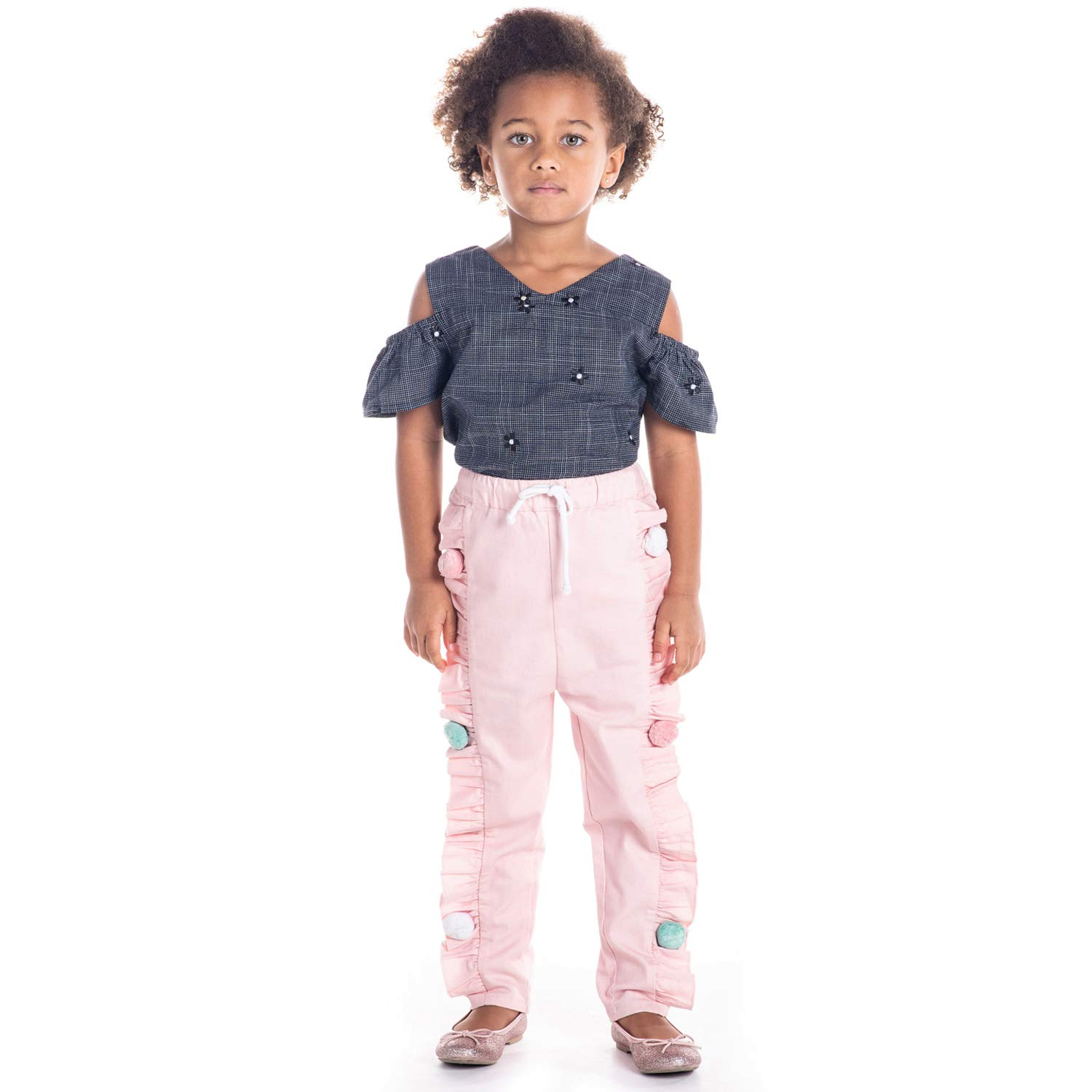 Cherry Crumble California Kids Boys Cotton Blend Solid Regular Fit Bottom Pant Beige, 5-6 Years