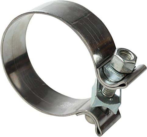 yjracing 10PCS 1.75 1 3//4 Genuine Stainless Steel Band Exhaust Clamp