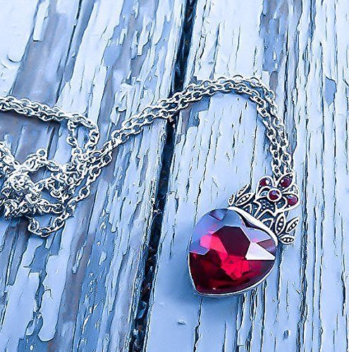 Dainty Handmade Queen of Hearts Ruby Necklace - DeluxeAdultCostumes.com