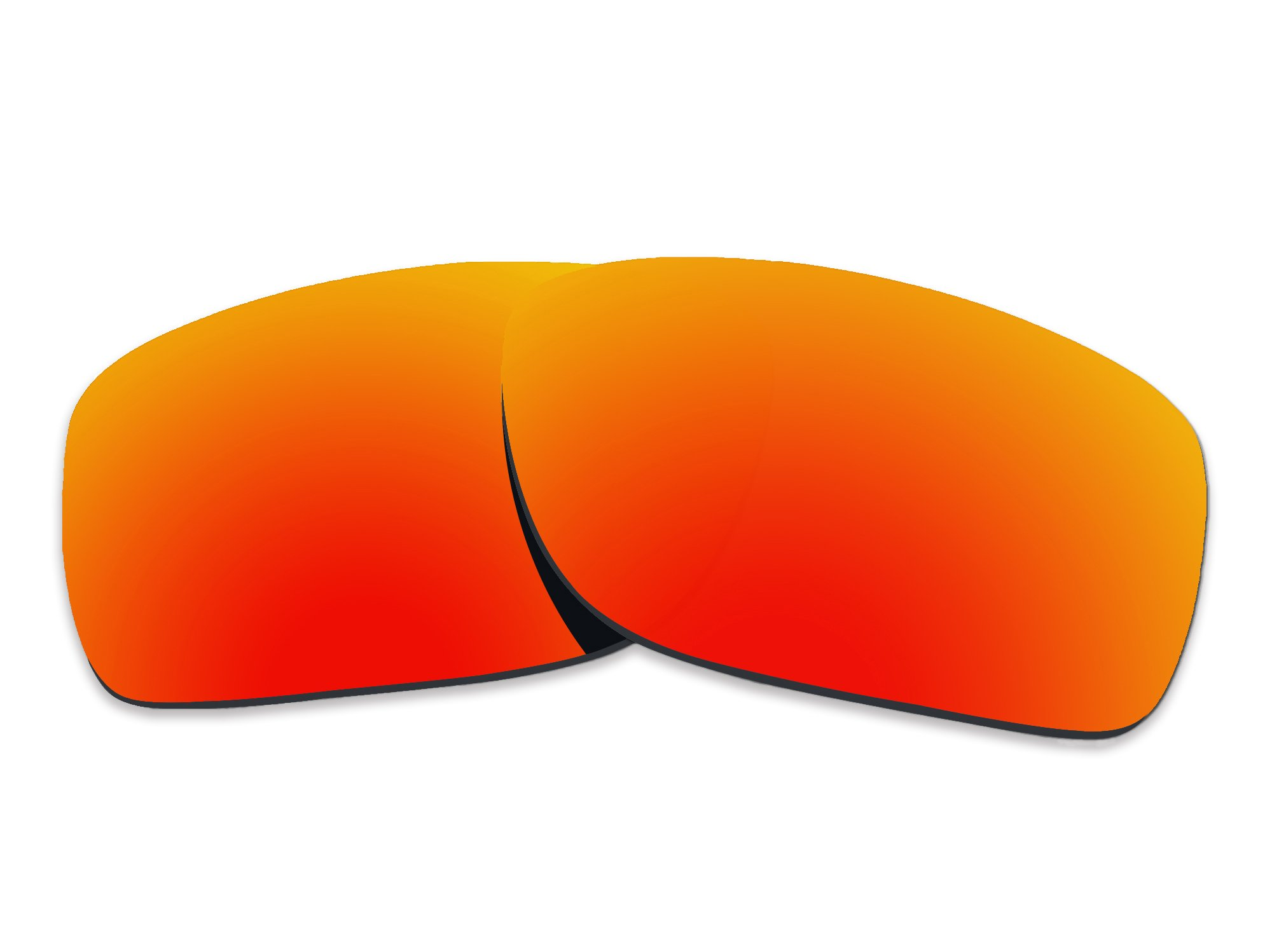 COLOR STAY LENSES 2.0mm Thickness Polarized Replacement Lenses for Oakley Turbine XS OJ9003 Fire Red Mirror Coatings by COLOR STAY LENSES