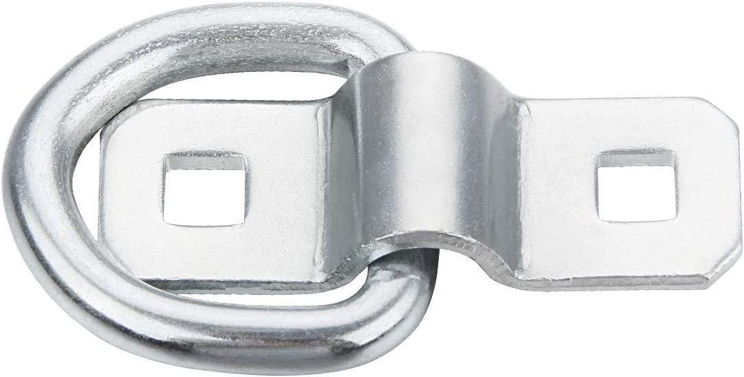 A-KARCK D Ring Tie Down Anchor 10 PCS Secure Cargo Tie-Downs 660 Pounds Zinc-Plated Steel Heavy Duty 1//4 D-Ring