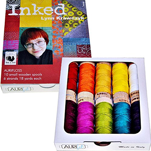 Inked by Lynn Krawczyk AuriFloss Thread Kit Floss 10 Small (18 yard) Spools (18 Spool Thread Kit)