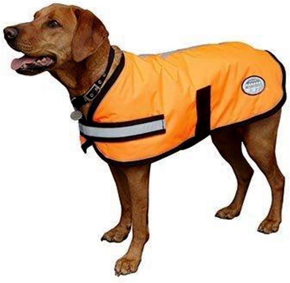 Yellow 50Cm Size Weatherbeeta Reflective Parka 300D Dog Coat