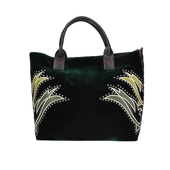 39771c822e5e5 Pinko 1h20hr-y4pv Shopping Bag Woman Green TU  Amazon.co.uk  Clothing