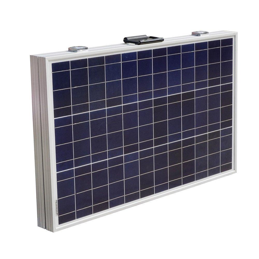 DCHOUSE 120 Watts 12Volt Portable Folding Polycrystalline PV Solar Panel Foldable Solar Suitcase