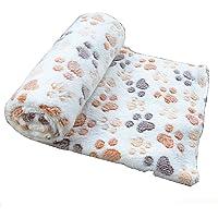 Cdet Alfombra manta para mascotas otoño e invierno manta cálida terciopelo de coral grueso,Café,60*40cm