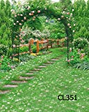 LB 10X10ft Outdoor Wedding Vinyl Photography Backdrop Customized Green Grass Photo Background Studio Prop CL351