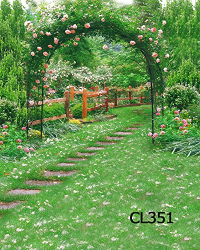 LB 10X10ft Outdoor Wedding Vinyl Photography Backdrop Customized Green Grass Photo Background Studio Prop CL351 by LB