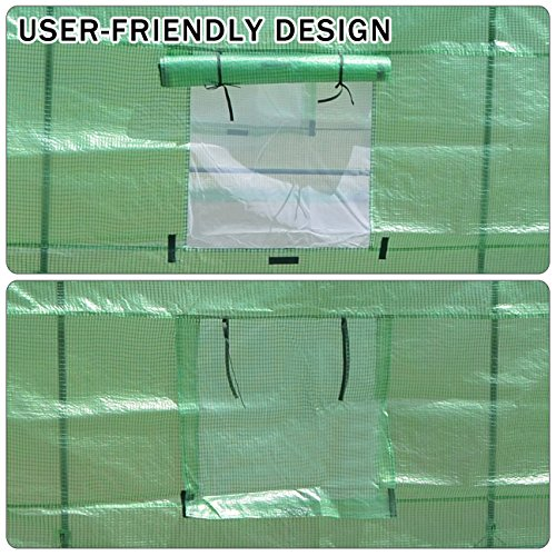 Strong Camel New Hot Green House 12'X7'X7' Larger Walk in Outdoor Plant Gardening Greenhouse by Strong Camel (Image #4)