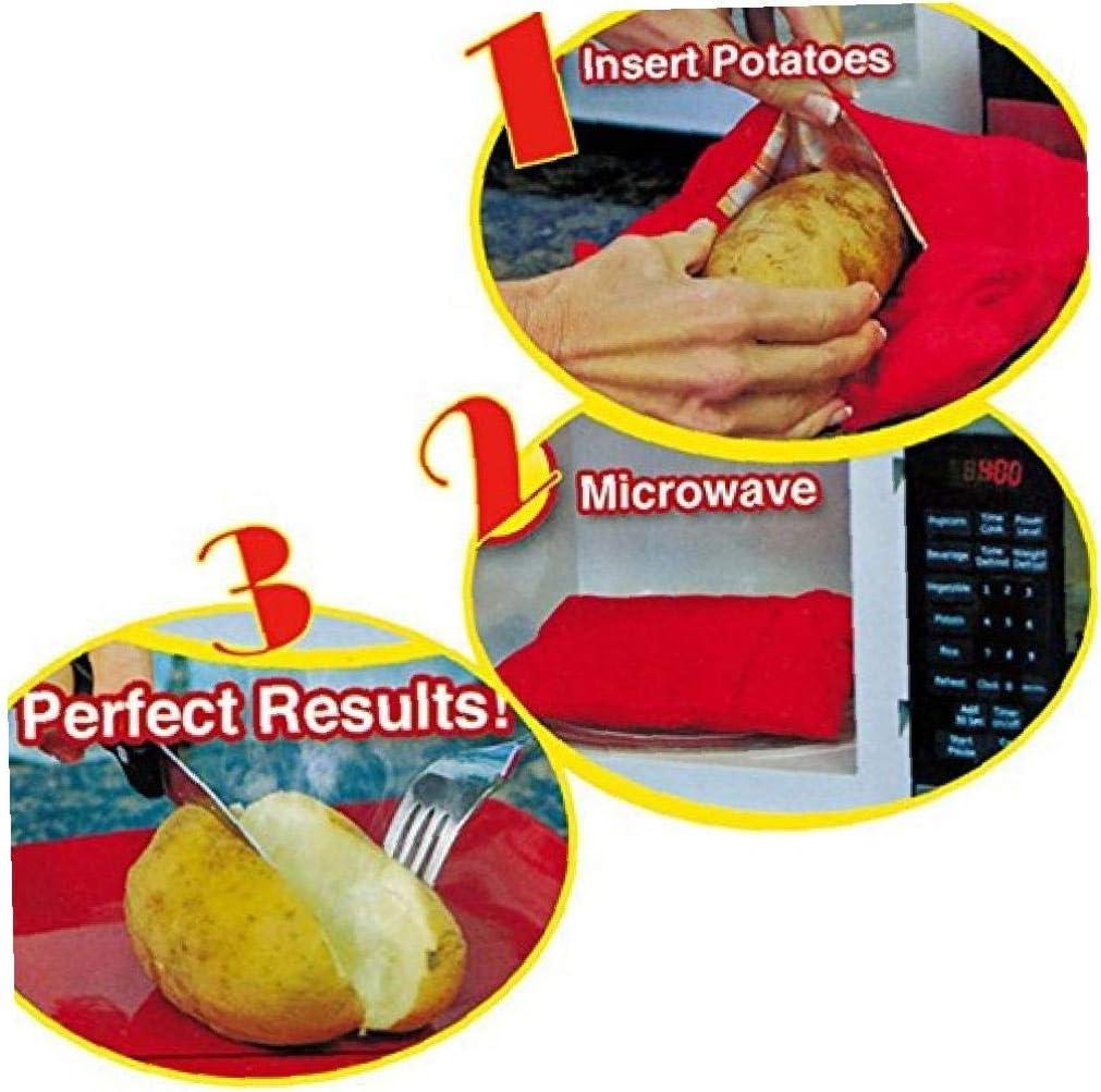 Ruijanjy Regalos Conveniente Patata Microondas Horno Horno De Microondas Bolsa Reutilizable Lavable Cocci/ón De Patata Bolsa De Vacaciones para Damas