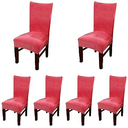 Enjoyable Amazon Com Smiry Velvet Stretch Dining Room Chair Covers Machost Co Dining Chair Design Ideas Machostcouk