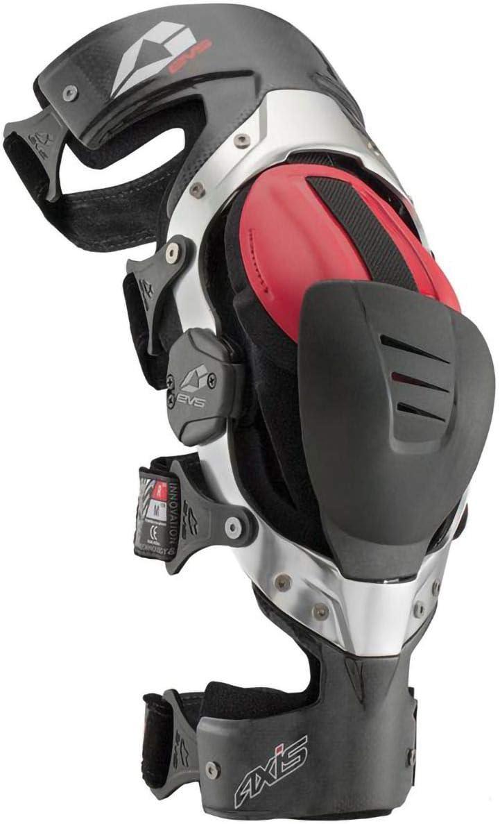 Black//Silver EVS Axis Pro Knee Brace Large//Left