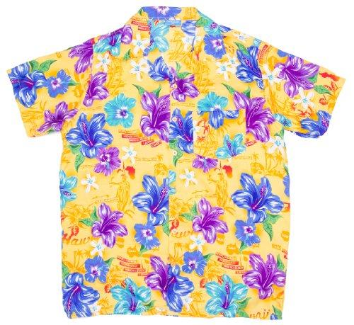 ragstock-mens-hawaiian-island-floral-print-aloha-shirt-yellow-x-large